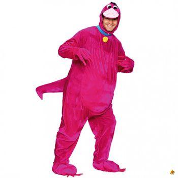 Kostüm Dinosaurier, pink