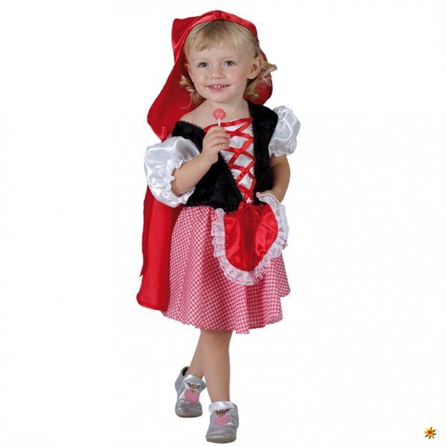 Kostüm Rotkäppchen Märchen Kinderfasching Kleid mit Umhang Red Riding Hood Girl