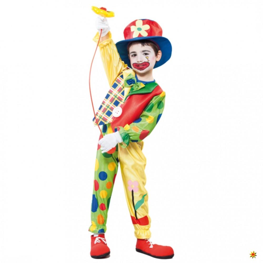 Kinderkostum Clown Junge Witzbold Grosse 4 6 Jahre