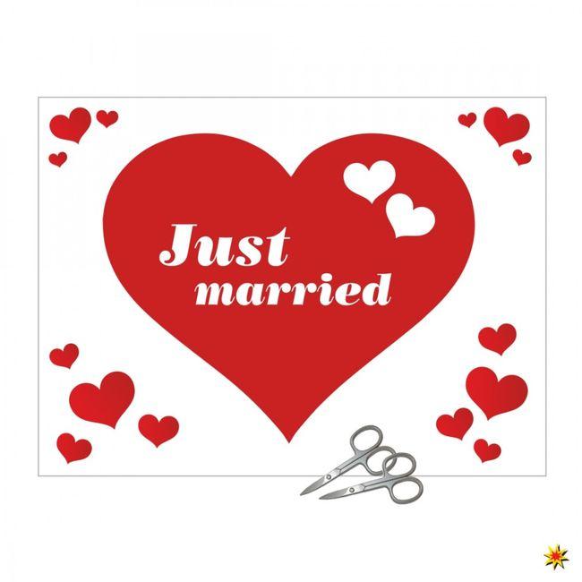 Herz Laken Hochzeit Ausschneiden
