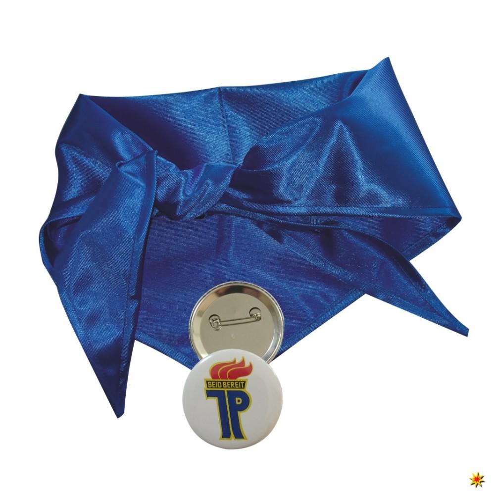 Pionier Halstuch blau inkl. Anstecker