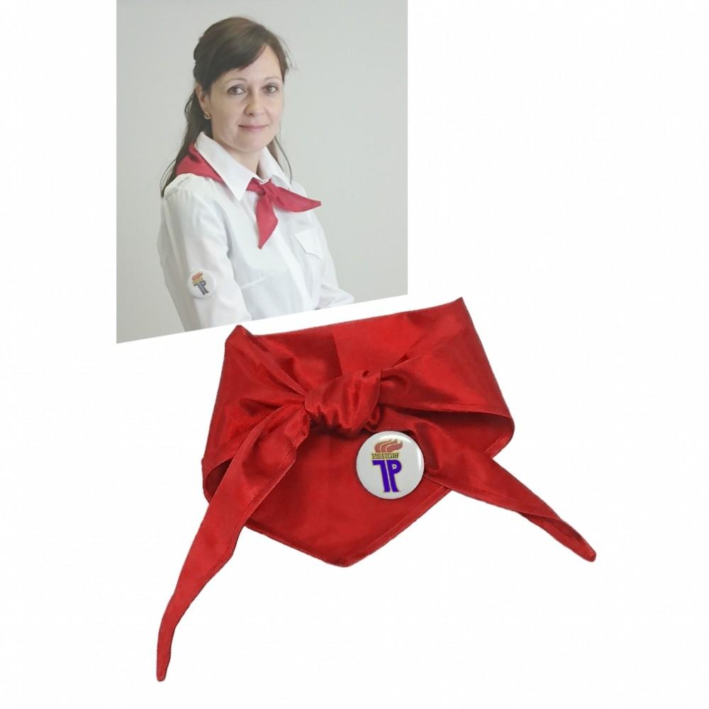 Pionier Halstuch rot 100 x 32 cm inkl. Anstecker DDR Kostüm-Zubehör Karneval Fasching Mottoparty