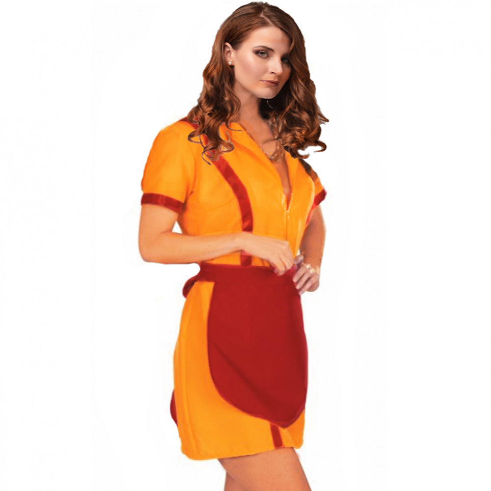 promo code 5a042 89ab5 Kostüm amerikan. Diner-Girl, Kleid gelb