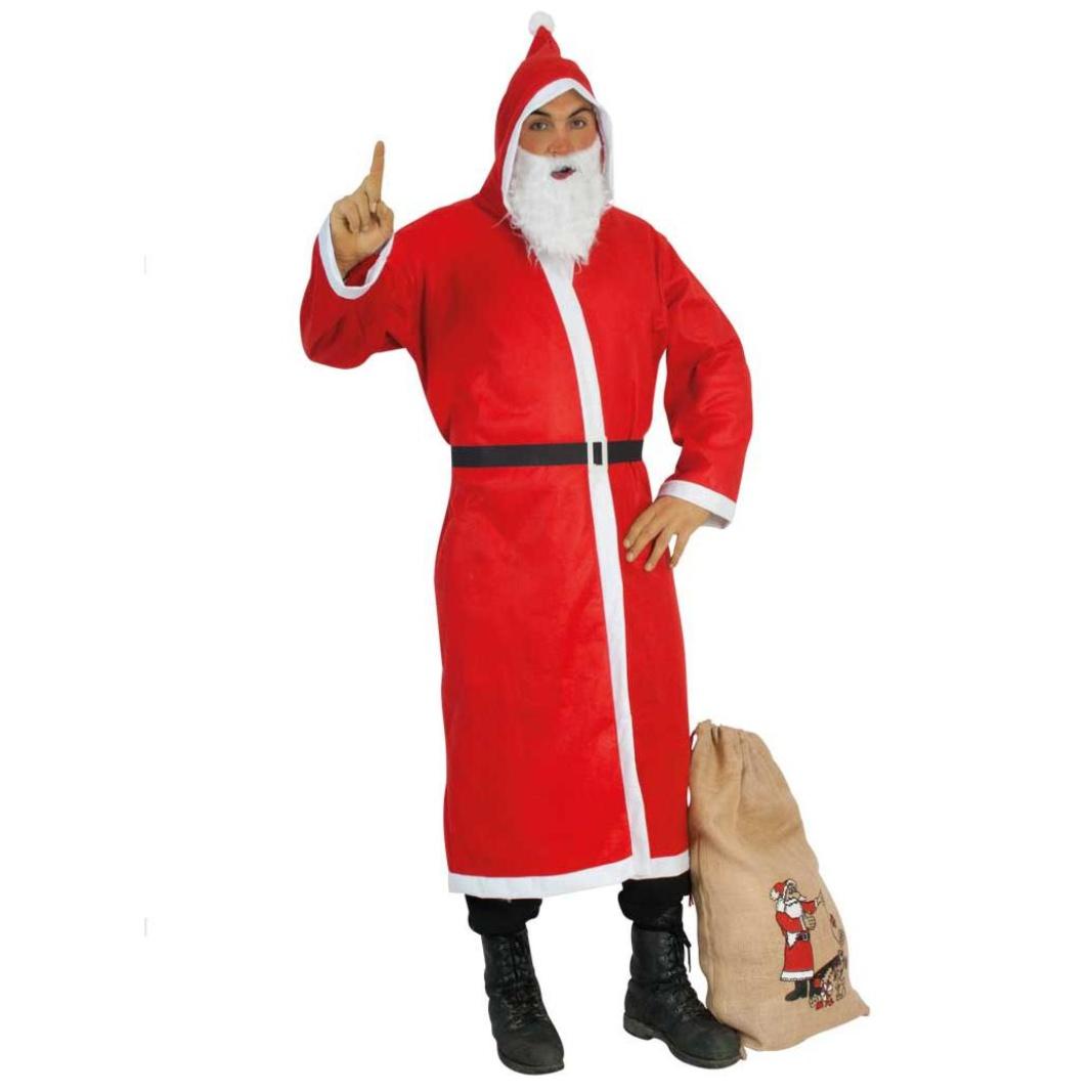 Weihnachtsmann Set Mantel Bart Gürtel Sack 2