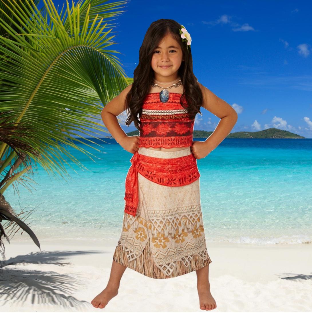 Disney Kostüm Südsee Prinzessin Vaiana Classic Kinderfasching