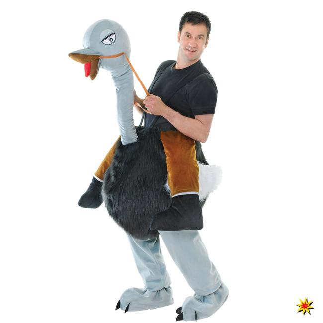 Huckepack Kostüm Strauß Carry Me