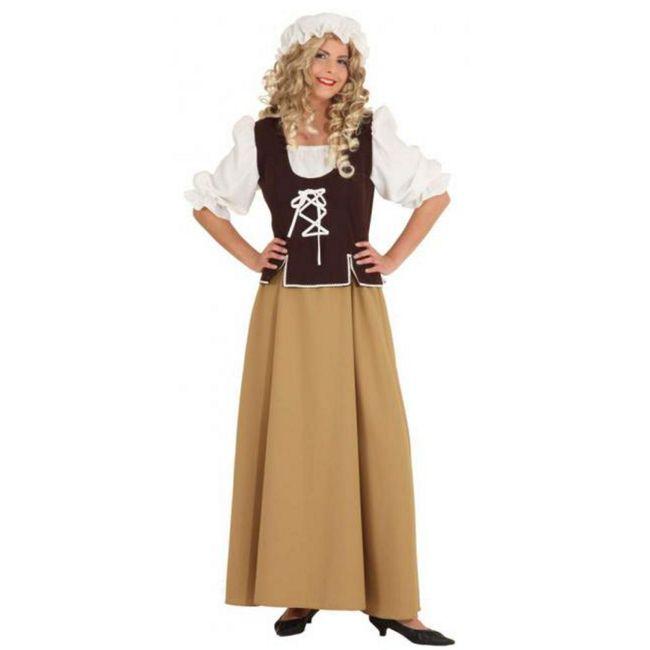 Mittelalter Kostüm Magd Else für Damen Gr. 36-48 braun Fasching Karneval Mittelalterfest Fasching Karneval Mottoparty Paarkostüm