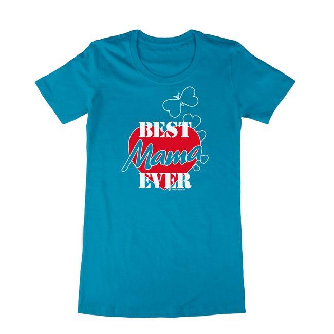 Damen T-Shirt türkis Gr. S-XXL mit Spruch Best Mama Ever Muttertag SALE Geburtstag Geschenkidee