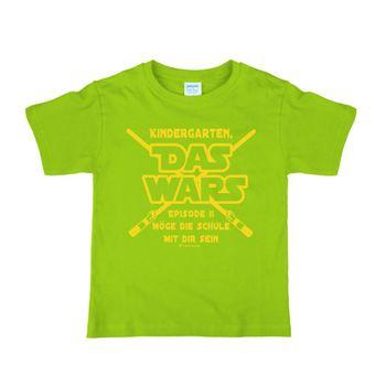 """Kinder T-Shirt Kindergarten """"Das Wars"""" grün Schulanfang Zuckertüte"""
