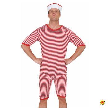 Historischer Badeanzug, Ringelware rot-weiß