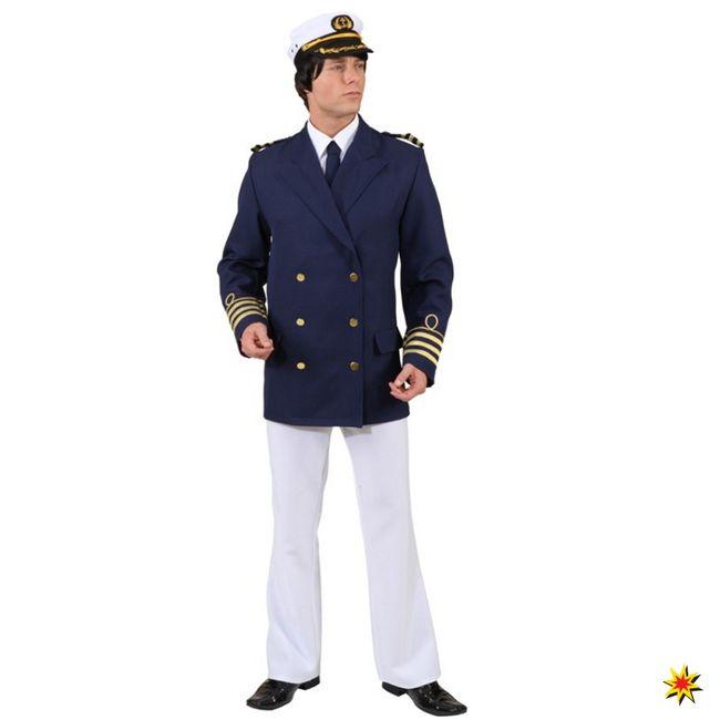 Admiral Jacke blau Kapitän Matrose Kostüm Jacket Mariene Offizier Karneval