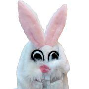 Hasen Kostüm für Kinder Kleid Gr. 104-140 weiß Tier Fasching Karneval Mottoparty Ostern Osterhase Mädchen