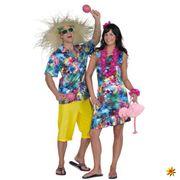 Hawaiikleid Südsee Karibik Beachparty Fasching