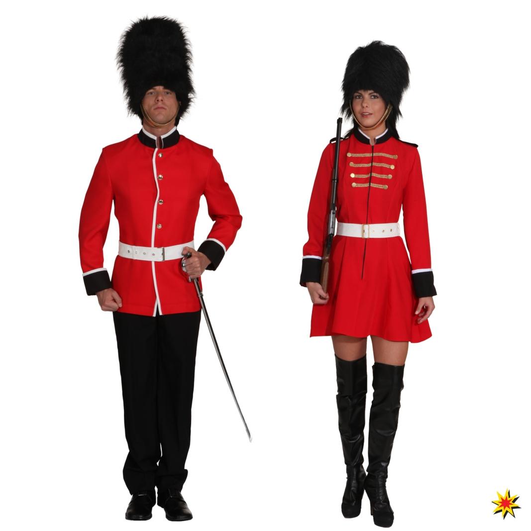 Kostüm Soladtin Tommy Uniform Kleid rot Fasching Mottoparty