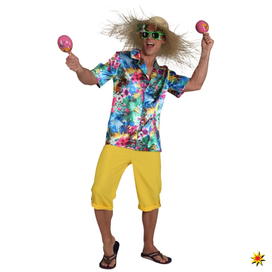 Kostüm Hawaiihemd Beachparty Fasching Karneval Tropen Südsee Karibik Hemd