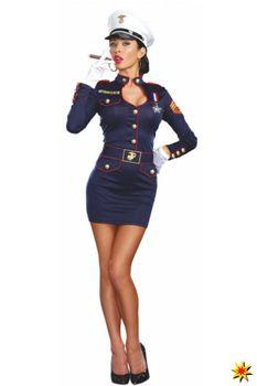 Kostüm Marine Offizierin, Kleid Matrosin