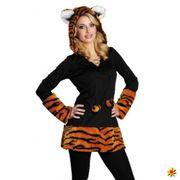 Kostüm Tiger Lilly Kleid Stulpen Fasching