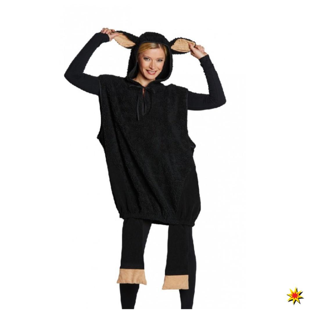 Kostüm schwarzes Schaf Fasching Karneval Black Sheep