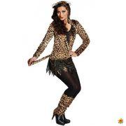 Kostüm Leopard Katze Fasching Karneval Miez Tierkostüm