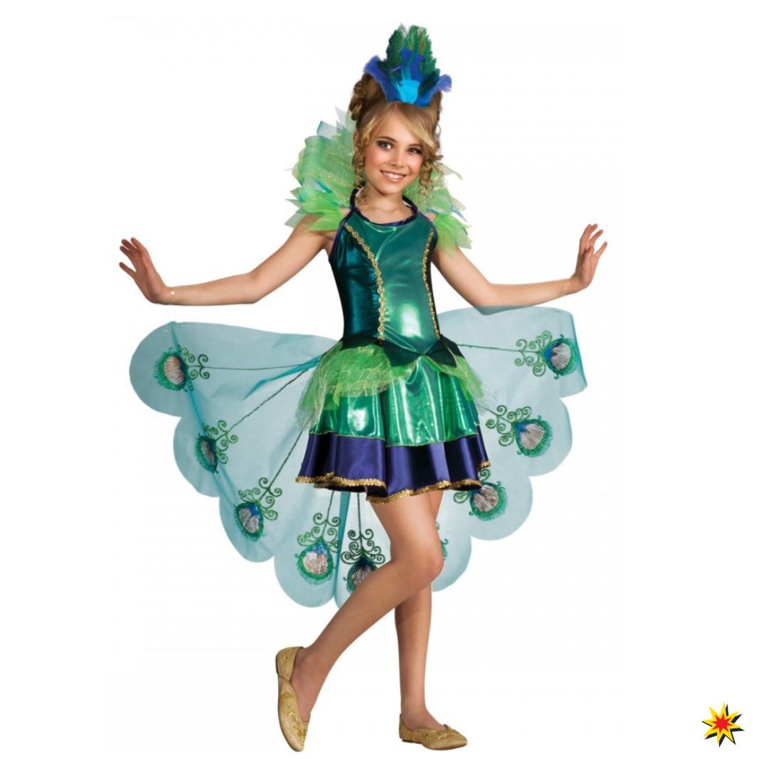 Kostüm Pfau Kleid Vogel Fasching Karneval Peacock