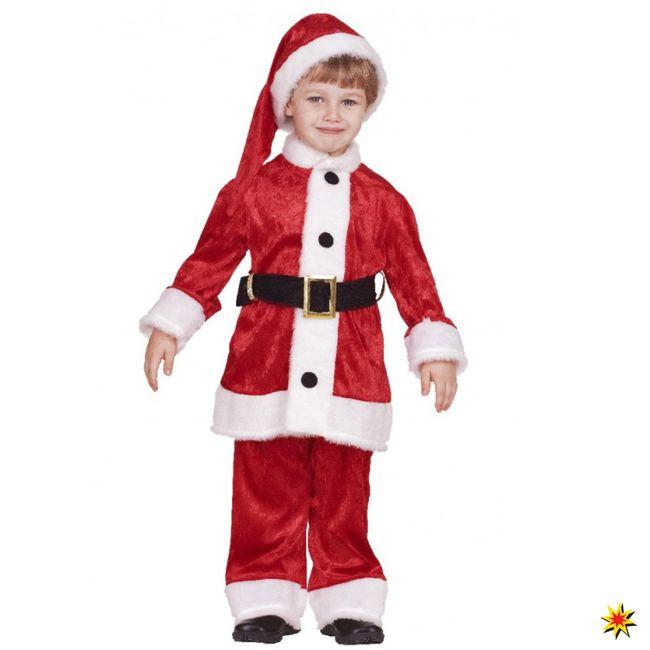 Kinderkostüm Weihnachtsmann Anzug Karneval