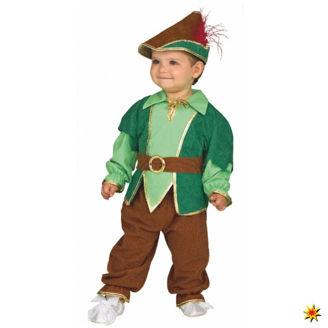 Baby Kostüm Peter Pan Anzug Hut Fasching