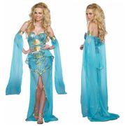 Kostüm Meerjungfrau Kleid hellblau Unterwasserwelt Nixe