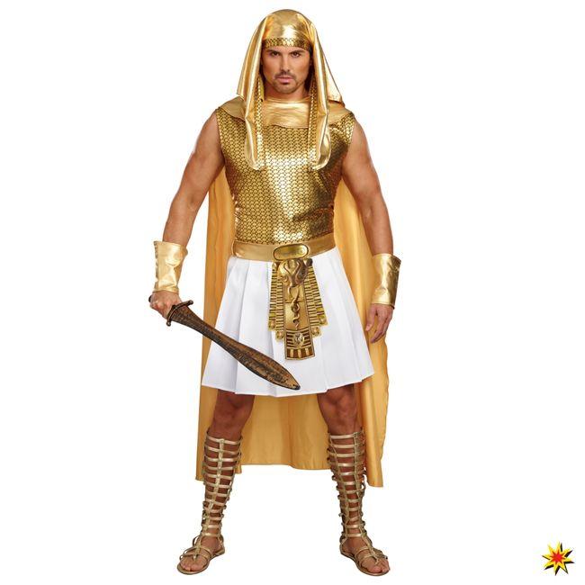 Ägypter Kostüm Ramses goldfarben Pharao Fasching Antike Ägypten