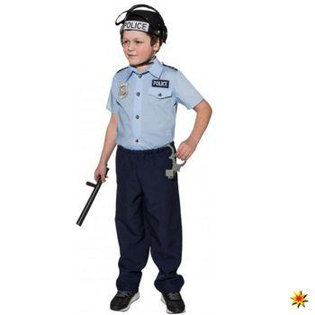 Polizei Kinderkostüm Polizist blau