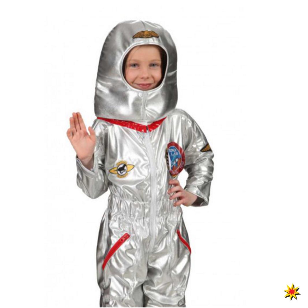 Kostüm Raumfahrer Jungen Overall silber Astronaut Fasching Karneval