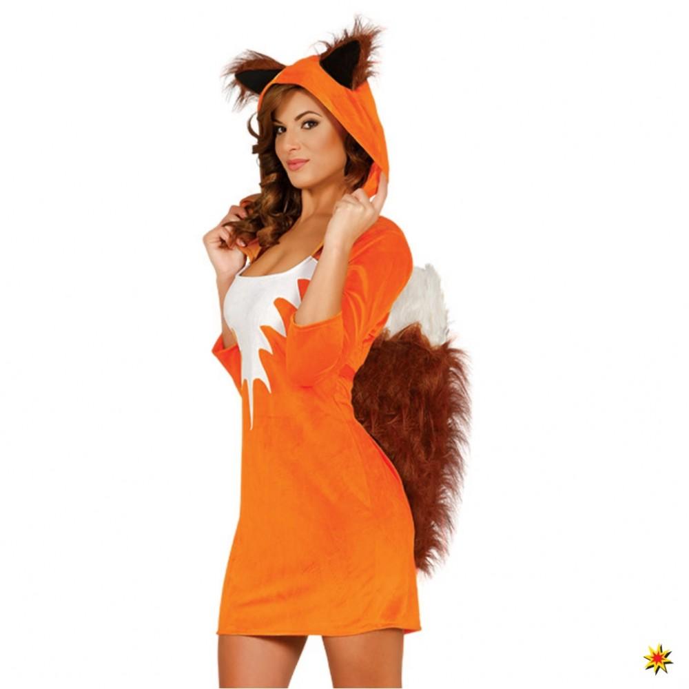 Kostüm Fuchs Kleid Tierkostüm Eichhörnchen Tier Faschingskostüm