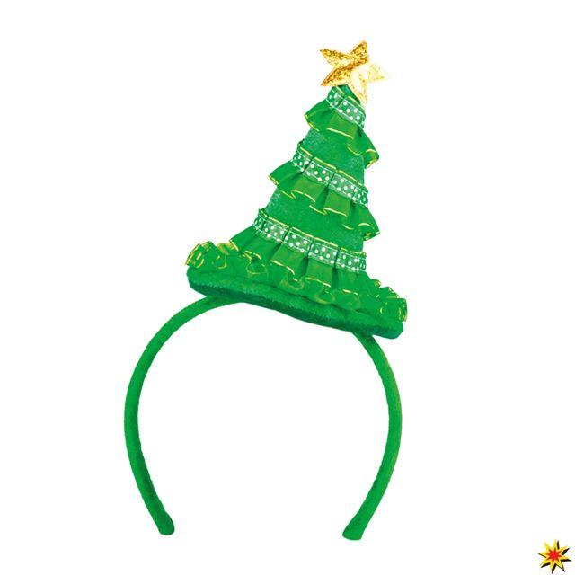 Haarreif Weihnachtsbaum grün Weihnachten Zubehör Spaßhut Fasching