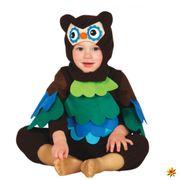 Baby Kostüm Eule Sven Overall bunte Federn Kinderfasching Vogel Tier