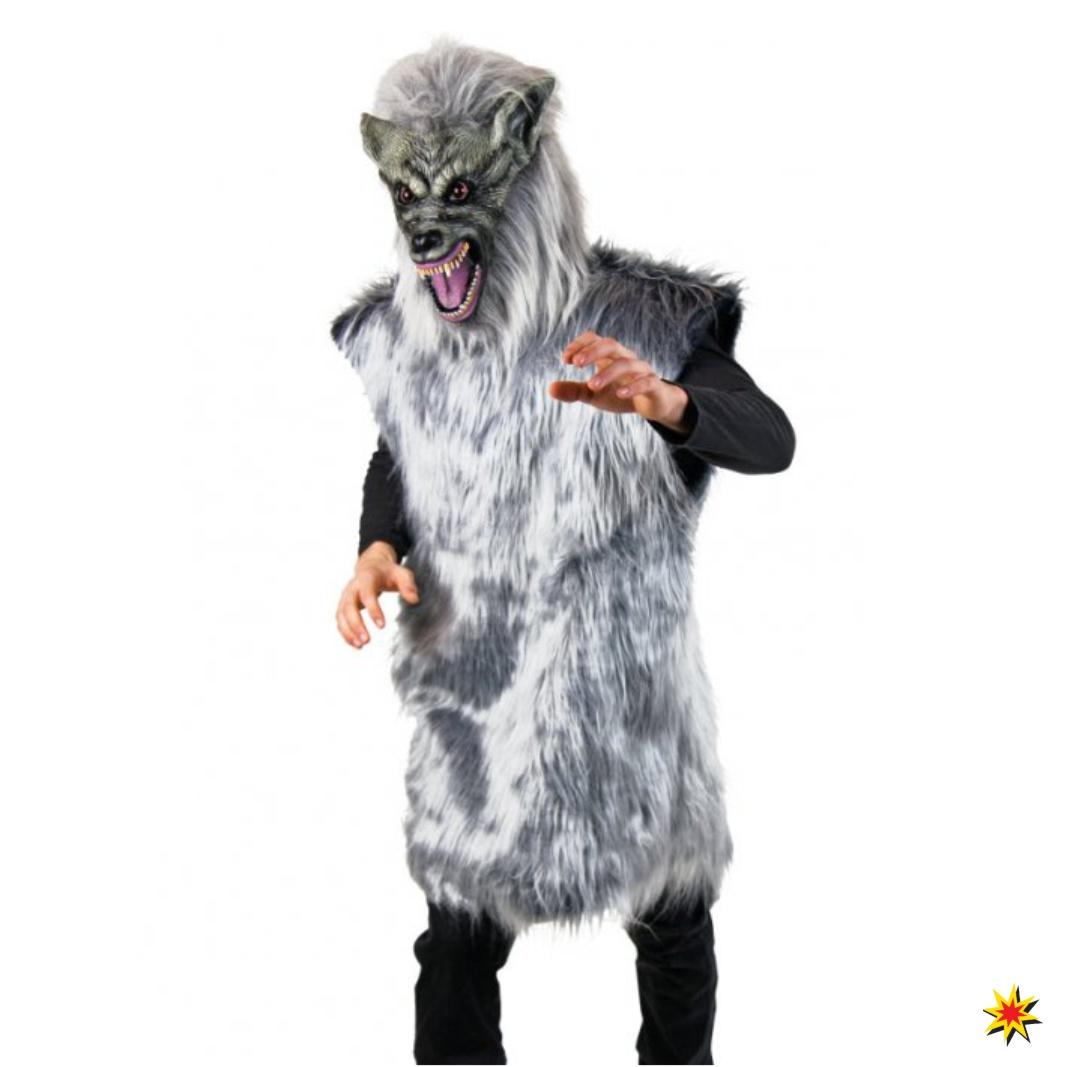 Marchen Kostum Grauer Wolf Grosse L