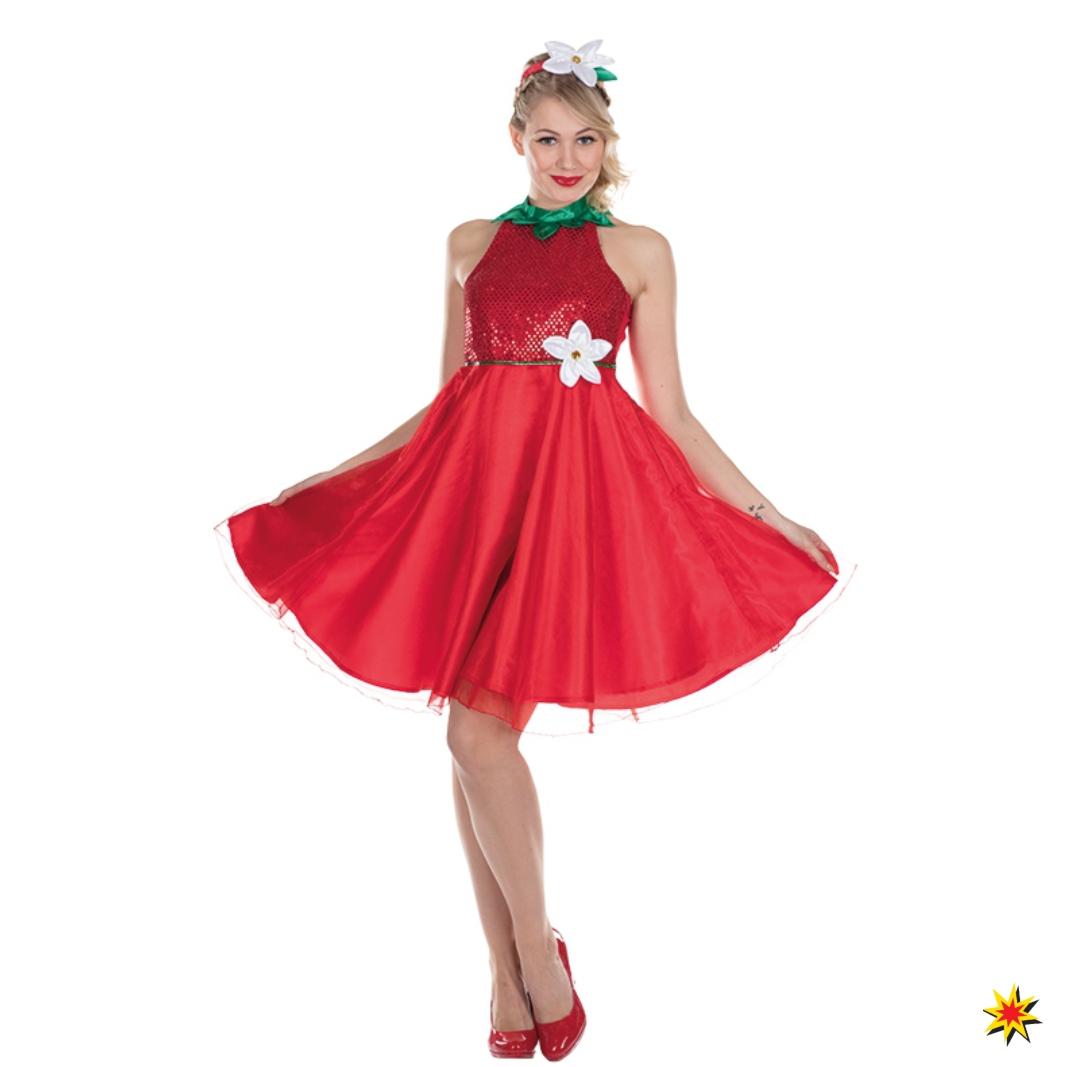 Kostüm Erdbeere Kleid rot Erdbeerblüte Fasching Obst Früchtchen Garten