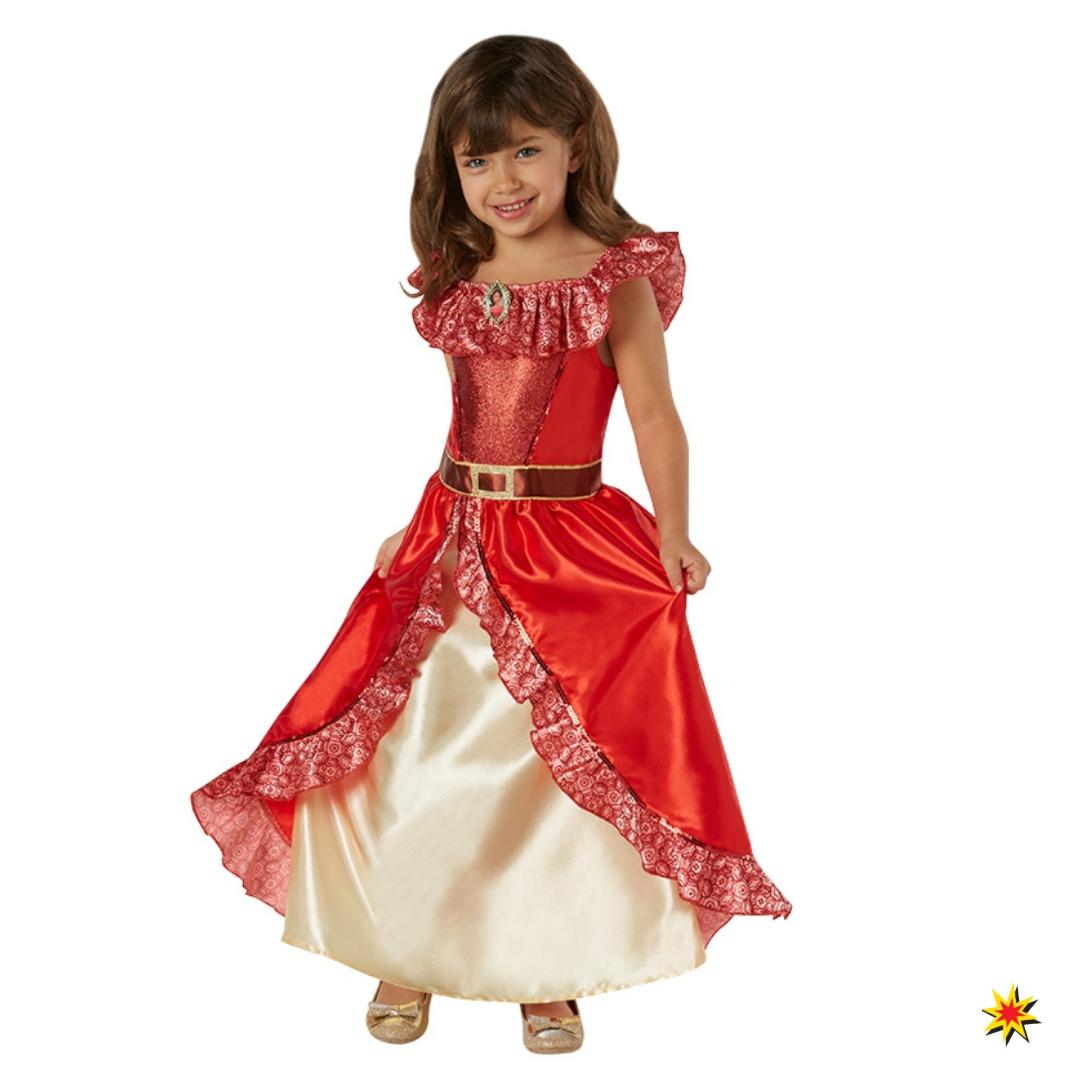 Elena von Avalor Kinderkostüm Deluxe Kleid rot Fasching Spanierin TV-Serie