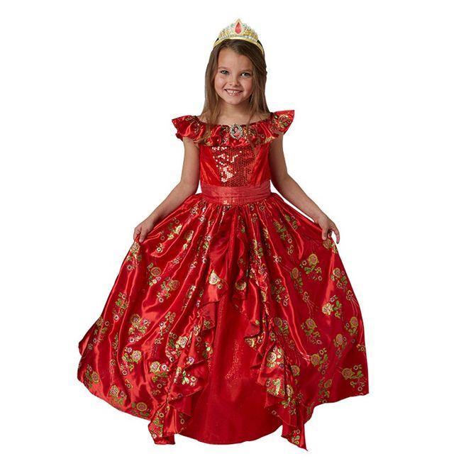Elena von Avalor Kostüm für Kinder 3-10 Jahre Kleid rot Fasching Karneval Kindergeburtstag Disney