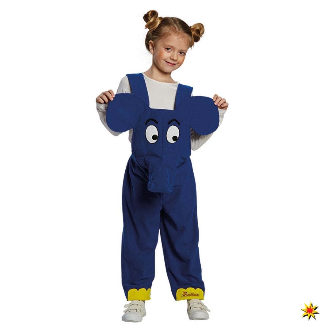 Kinderkostüm Der blaue Elefant Latzhose blau