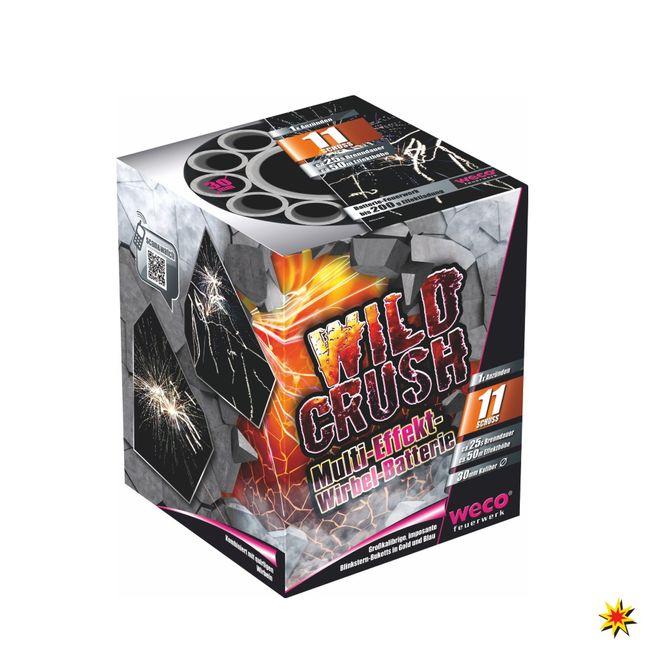 Wild Crush Feuerwerk Batterie 11 Schuss Für Silvester und andere Anlässe