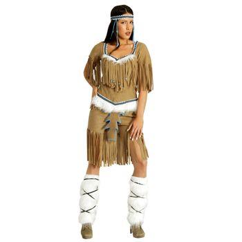 Kostüm Indianerin Weiße Feder