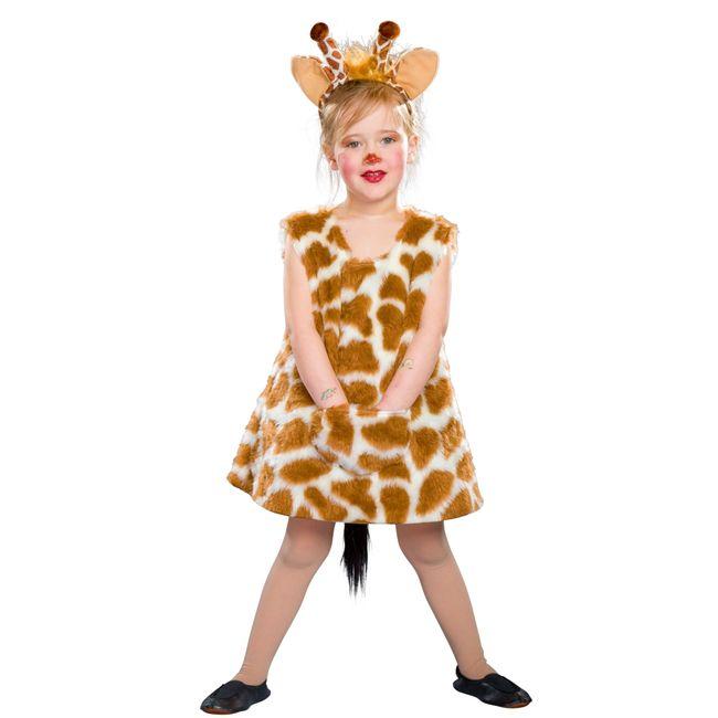 Giraffen Kostüm Lena für Kinder Gr. 92-128 Kleid Tierkostüm Fasching Karneval Kindergeburtstag Kinderfasching