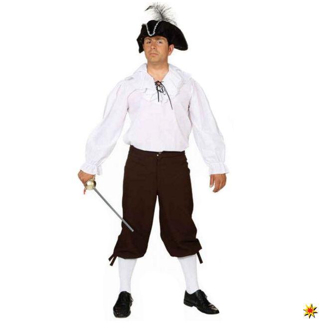 Herren Kniebundhose braun Mittelalter Pirat Kostüm Zubehör Fasching
