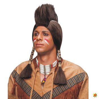 Indianer Perücke mit Iro