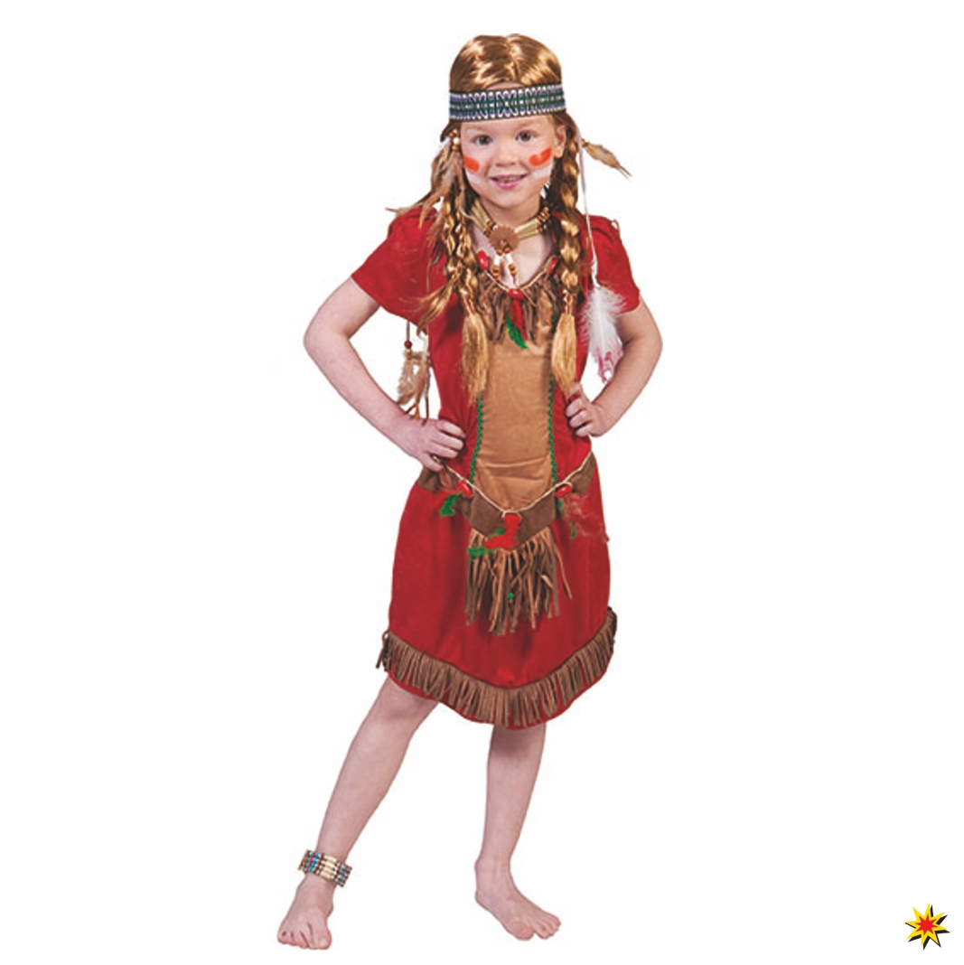 Kinderkostum Indianerin Red Squaw Grosse 104