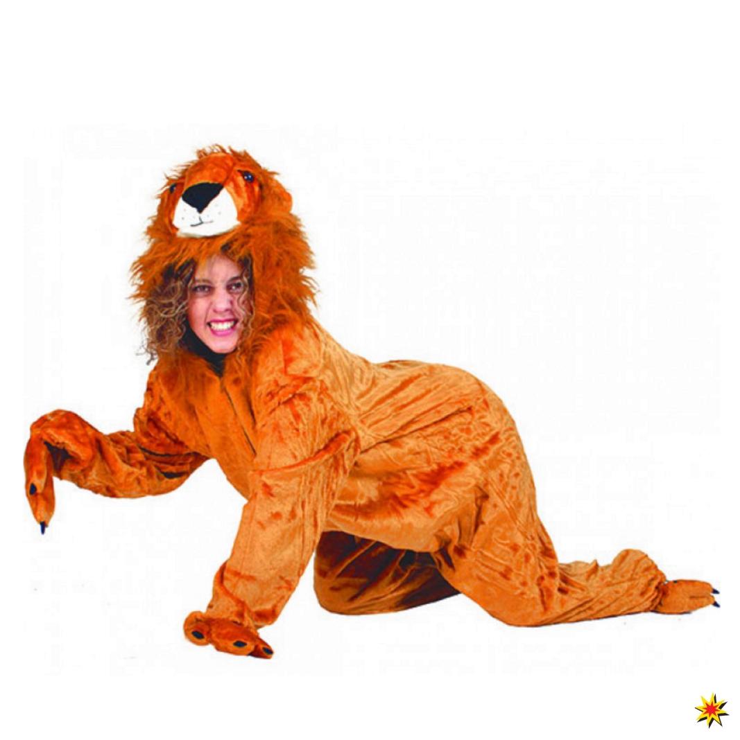 Kostüm wilder Löwe Sanwa Overall Tierkostüm Zoo Afrika Löwen