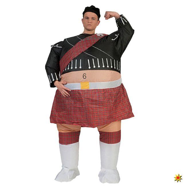 Aufblasbares Kostüm Schotte Scott Airsuit Kostüm AirSuits Fasching Schottland