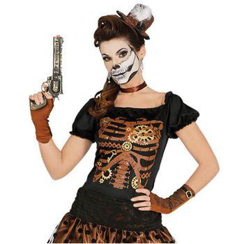 Steampunk Kostüm Jessy, Kleid braun