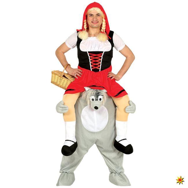 Trag Mich Huckepack Kostüm Wolf Einhgr. Carry me Kostüme Rotkäppchen Märchen