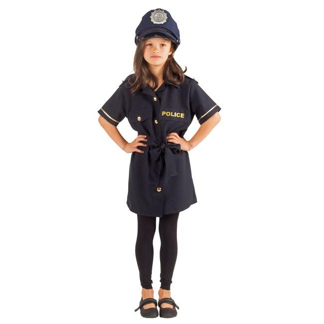 Polizistin Kostüm für Klara für Kinder 116- 140 Kleid blau SALE Fasching Karneval Mottoparty Kindergeburtstag