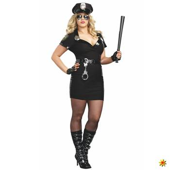 XXL Kostüm Polizistin, Cop Anita